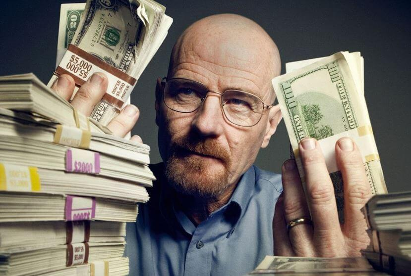 Walter White income in breaking bad
